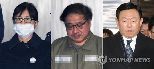 De gauche à droite : Choi Soon-sil, An Chong-bum et Shin Dong-bin