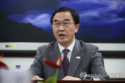 Le ministre de l'Unification, Cho Myoung-gyon.
