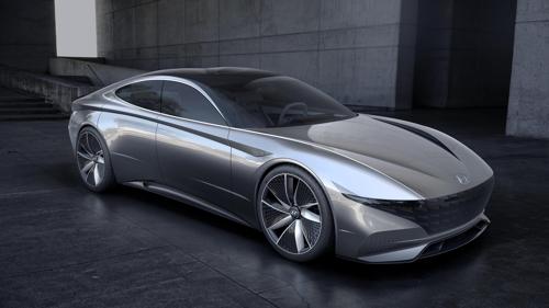 Image de synthèse du concept Le Fil Rouge de Hyundai qui sera dévoilé au Salon de l'auto de Genève.