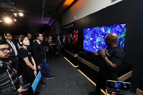 Samsung Electronics Co. a dévoilé ses nouveaux téléviseurs QLED à New York, lors de l'événement de présentation «The First Look 2018 New York». © Samsung Electronics Co.