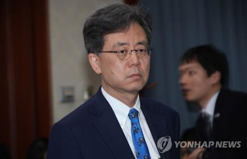 Le ministre du Commerce Kim Hyun-chong le 12 mars 2018 à Séoul.