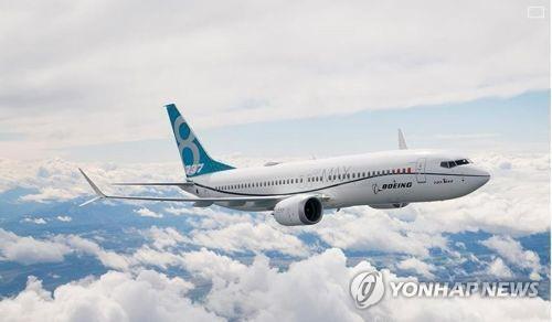 Le B737 MAX 8 fabriqué par Boeing (Photo issue de la page d'accueil de Boeing)