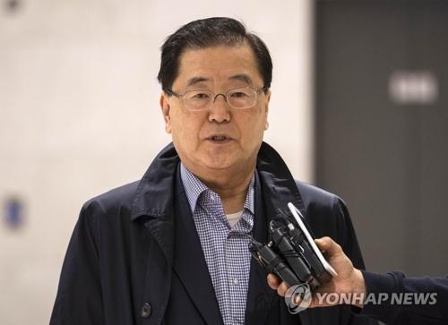 Le conseiller présidentiel à la sécurité nationale Chung Eui-yong (Photo d'archives Yonhap)