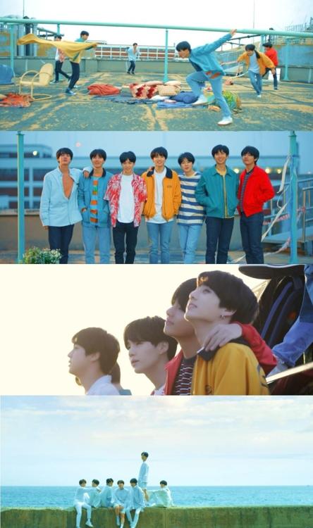 Captures d'écran du teaser du nouvel album du groupe de K-pop Bangtan Boys (BTS). © Big Hit Entertainment