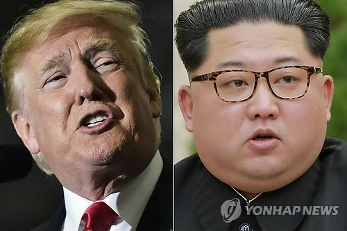 Le président américain Donald Trump (à gauche) et le dirigeant nord-coréen Kim Jong-un.