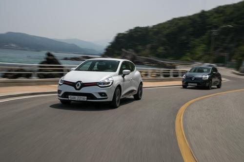 La Clio de Renault ce mercredi 16 avril 2018 lors du test à Gangneung.