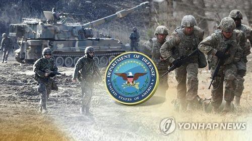 Cette image, fournie par Yonhap News TV, montre des troupes américaines en Corée du Sud.