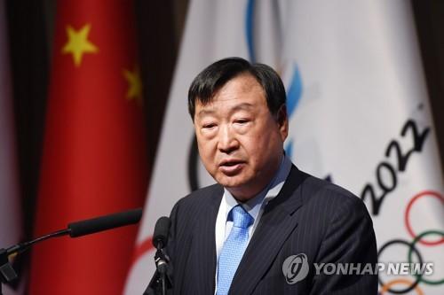 Le président du comité d'organisation de PyeongChang 2018 Lee Hee-beom le 4 juin 2018 à Pékin.
