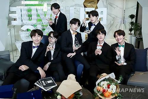 Le boys band de K-pop Bangtan Boys (BTS) (Photo d'archives Yonhap)