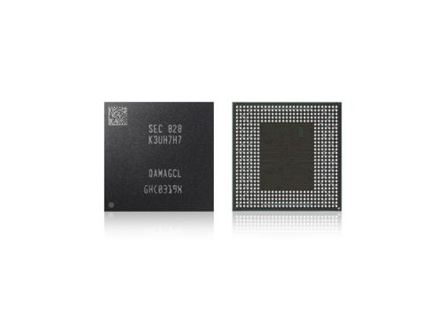 La puce LPDDR4X DRAM 16 Go gravée en 10 nanomètres de deuxième génération. ⓒ Samsung Electronics Co.