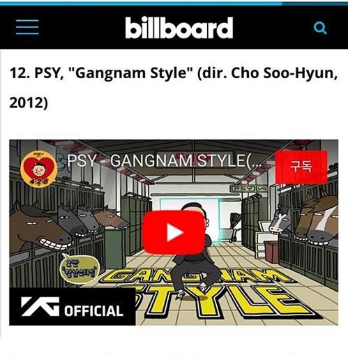 Capture d'écran du site Internet de Billboard. © HNS HQ.