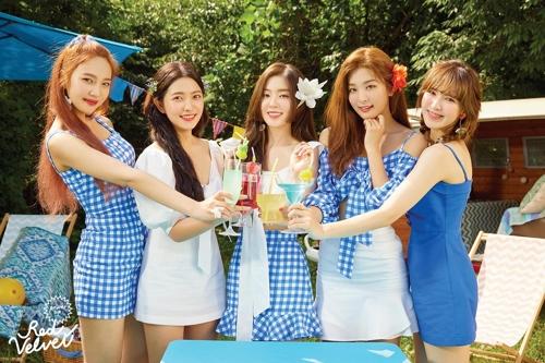 Image promotionnelle de l'album «Summer Magic» de Red Velvet.