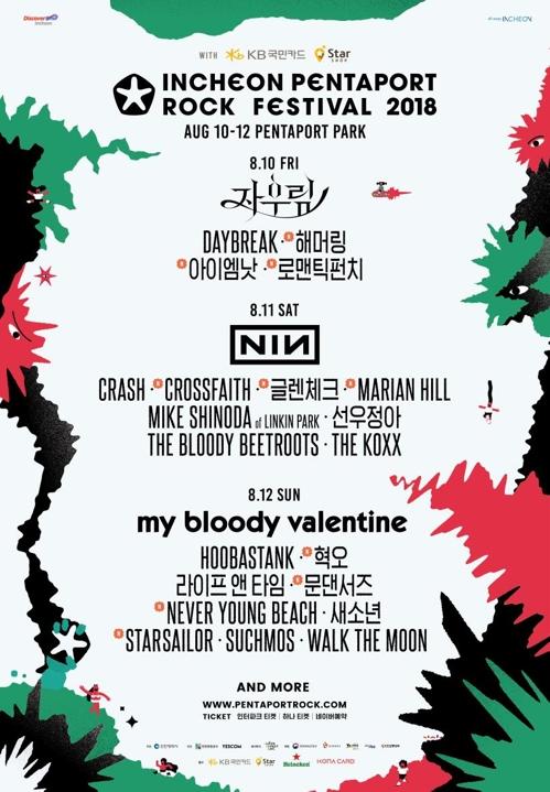 Affiche promotionnelle du Festival de rock Pentaport 2018.