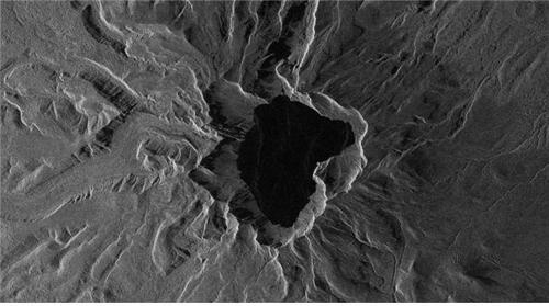 Une image de la chaîne des monts Baekdu, prise par le satellite Arirang 5, le 1er août 2014. ⓒ Ministère de la Science et des TIC