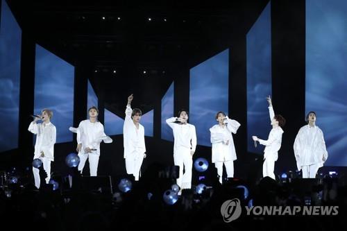 Le groupe de K-pop Bangtan Boys (BTS)