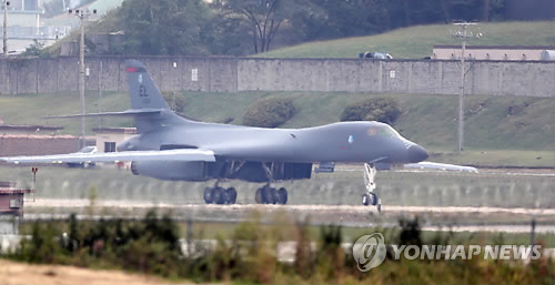写真]米戦略爆撃機B1B 異例の韓...