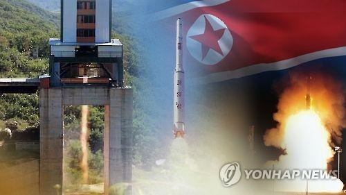 北朝鮮のICBM=(聯合ニュースTV提供)