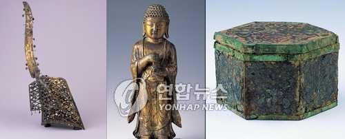 小倉武之助が収集したコレクションの一部(資料写真、文化財庁提供)=(聯合ニュース)