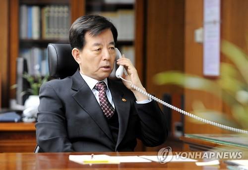 韓民求(ハン・ミング)国防部長官(資料写真)=(聯合ニュース)