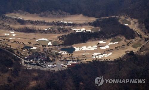 THAAD配備用地のゴルフ場(資料写真)=(聯合ニュース)