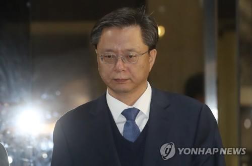 禹柄宇・元民政首席秘書官被告(資料写真)=(聯合ニュース)