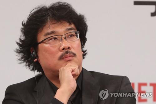 ソウル市内のホテルで15日行われた記者会見に出席したポン・ジュノ監督=(聯合ニュース)