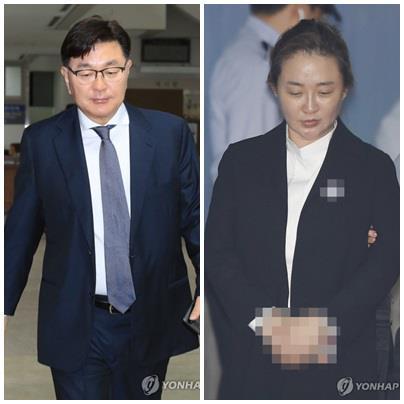 キム被告(左)と妻のパク被告(資料写真)=(聯合ニュース)