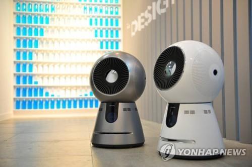 コーウェイの空気清浄ロボット(韓国空港公社提供)=(聯合ニュース)