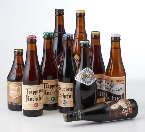 大型スーパーで販売されている輸入ビール(ロッテマート提供)=(聯合ニュース)