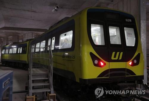ライトレール牛耳新設線の車両=(聯合ニュース)