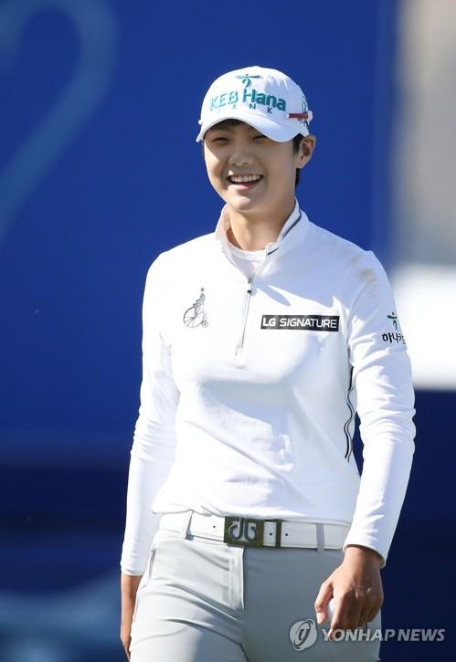 4月2日、米女子ゴルフの今季メジャー第1戦、ANAインスピレーションに出場した朴城ヒョン(LG電子提供)=(聯合ニュース)