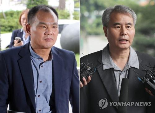 在宅起訴された金成鎬氏(左)と金仁垣氏(資料写真)=(聯合ニュース)