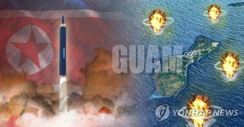 北朝鮮がミサイルによる米領グアムへの包囲射撃を警告するなど、挑発を強めている(イメージ)=(聯合ニュース)