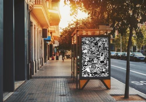 バス停に設置された作品(提供写真)=(聯合ニュース)