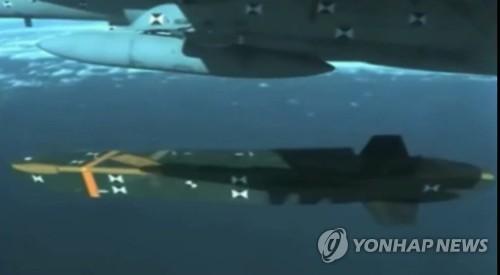 戦闘機から発射されるタウルス=(聯合ニュース)