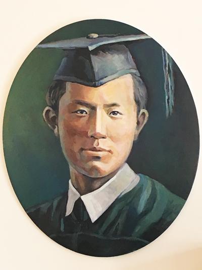 画家のピョン・スンドク氏が描いた尹東柱=(聯合ニュース)