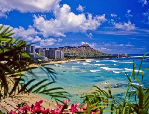 韓国人に人気のあるハワイのワイキキビーチ(エクスペディア提供)=(聯合ニュース)