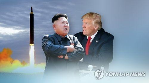 金正恩氏(左)とトランプ氏=(聯合ニュース)