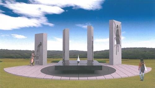 国立望郷の丘に設置される碑のイメージ図(女性家族部提供)=(聯合ニュース)