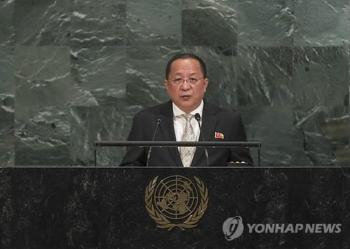 北朝鮮の李外相=(聯合ニュース)