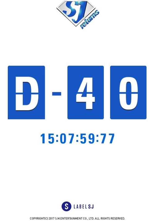 ニューアルバムリリースまで40日を知らせるイメージ(レーベルSJ提供)=(聯合ニュース)