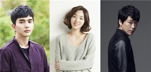 (左から)ユ・スンホ、チェ・スビン、オム・ギジュン(MBC提供)=(聯合ニュース)