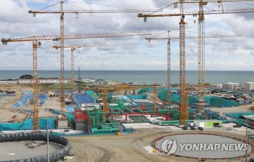 新古里原発5、6号機の建設現場(資料写真)=(聯合ニュース)
