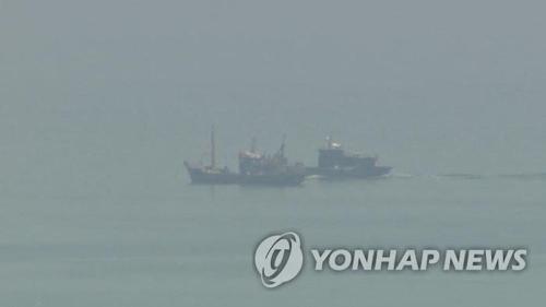 北朝鮮は北朝鮮側水域に侵入して捕まった韓国漁船と船員を27日午後に韓国側に送り返すと発表した(資料写真)=(聯合ニュースTV)