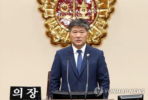 江原道議会の金東日議長(資料写真)=(聯合ニュース)