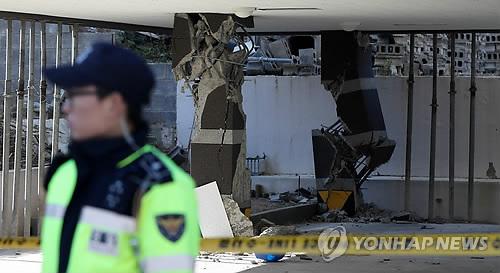 地震で被害を受けた浦項市内の建物(資料写真)=(聯合ニュース)