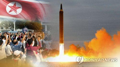 北朝鮮の弾道ミサイル(聯合ニュースTV提供)=(聯合ニュース)