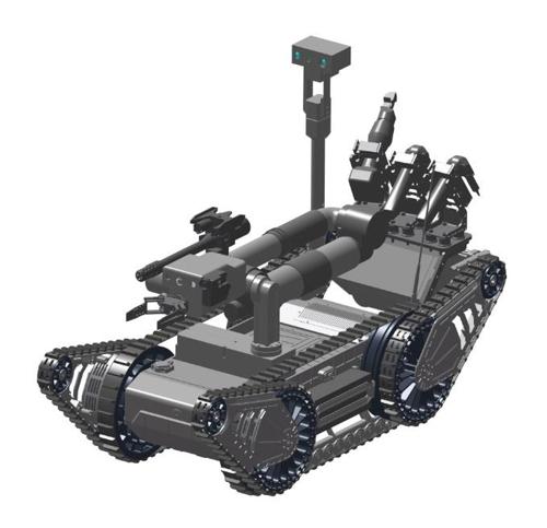 爆発物探知・処理ロボットのイメージ図(防衛事業庁提供)=(聯合ニュース)
