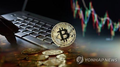 価格が急騰している「ビットコイン」=(聯合ニュース)