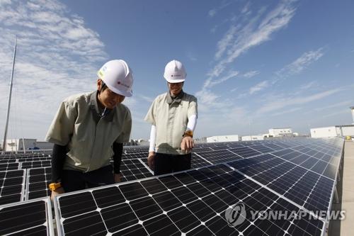 太陽光発電のパネル(資料写真、LGディスプレー提供)=(聯合ニュース)